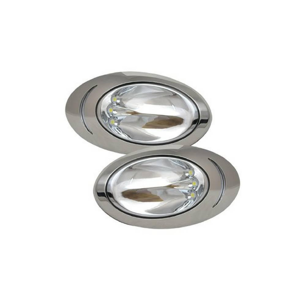 ITC LED Docking Lights, 316 ss, surface mount, pair, large