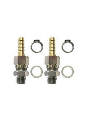 Set of straight fittings flexible tube G 1/8 6mm