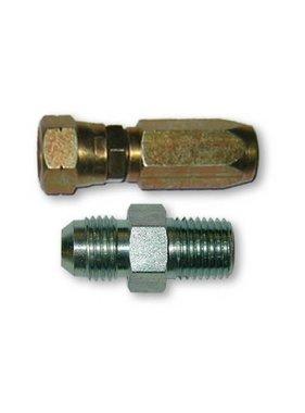 Set of s/steel straight fittings flexible tube G1/4 8mm