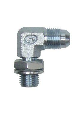 Swivel elbow fittings steel 1/4 cilindrisch