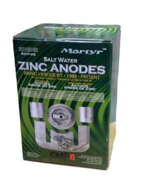 Martyr Anodes Mercruiser Anode Kit, Bravo 1, ZN