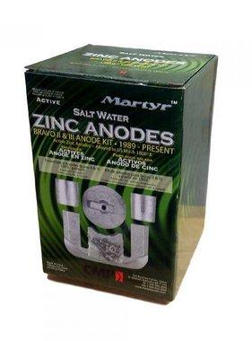 Martyr Anodes Mercruiser Anode Kit, Bravo 2-3, ZN