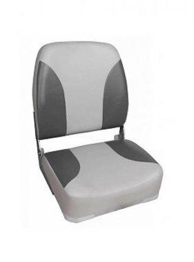 Titan Marine Deluxe Highback Seat, Grey-Charcoal