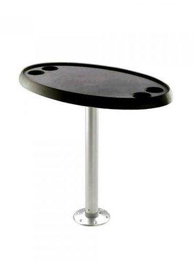 Titan Marine Oval BLACK table top. 46 cm * 76 cm.