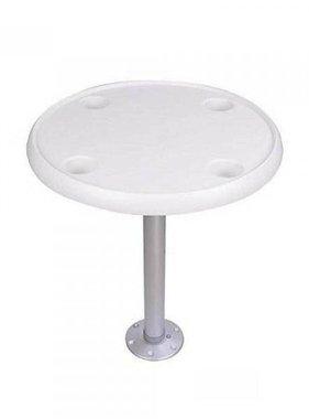 Titan Marine Round white table top. Diam. 60 cm.