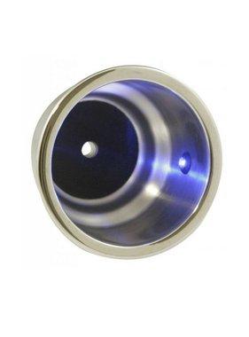 ITC Getränkehalter LED, blau, eingebaut, Edelstahl