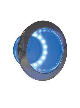 ITC Bekerhouder LED ring, blauw, inbouw, RVS