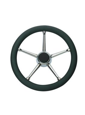 Savoretti Steering Wheel, Curacao Black/SS, PU foam Cover