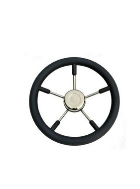 Savoretti Steering wheel Tenerife, Black/SS, 70 cm.