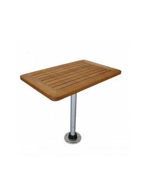 Titan Marine Teak tafelblad, vierkant, Medium 45 cm * 70 cm.