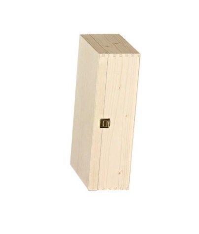 2er Holzkiste Scharnierdeckel