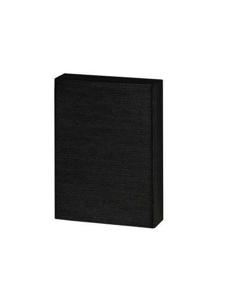 3er Präsentkarton schwarz Leinenoptik