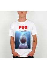 DEDICATED Hungry Pug T-Shirt DEDICATED White