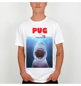 DEDICATED Hungry Pug T-Shirt DEDICATED White