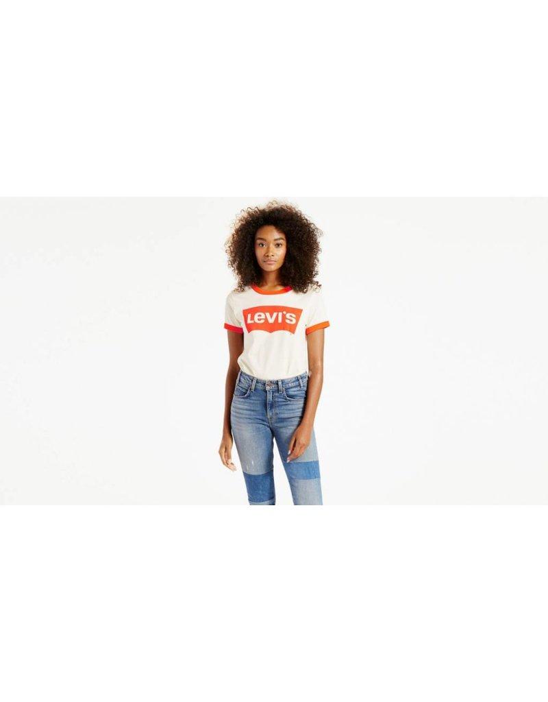 Levis Skateboarding LEVI'S Orange Tab Ringer Graphic Tee Surf Marshmallow 32980-0000