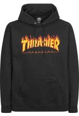 Thrasher THRASHER Flame Hood Black Skatemag Sweat