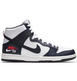 Nike SB Nike SB Dunk High Pro 854851-441 OBSIDIAN/OBSIDIAN-WHITE-UNIVERSITY RED