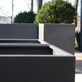 FLORIDA aluminium 40x40x100 cm plantenbak