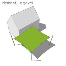 Nesling Bevestigingsset vierkant 1x gevel