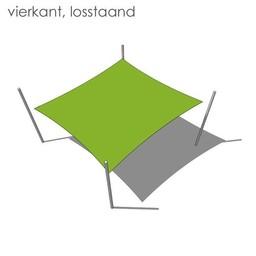 Nesling Bevestigingsset vierkant losstaand
