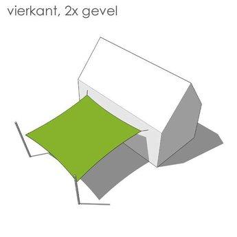 Nesling Bevestigingsset vierkant 2x gevel