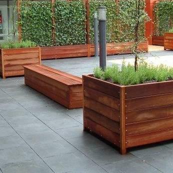 Langwerpige Houten Plantenbakken Voor Buiten.Laat Uw Plantenbak Op Maat Maken Tuinvoordeel Eu