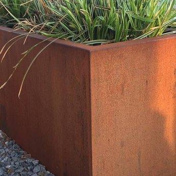 Andes cortenstaal 40x40x80 cm plantenbak