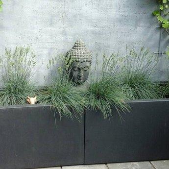 Buxus polyester 40x40x100 cm plantenbak