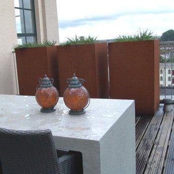 Andes cortenstaal met poten 100x100x80 cm plantenbak