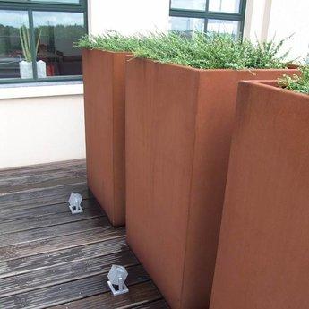 Andes cortenstaal 120x120x60 cm plantenbak