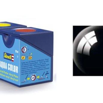 Revell Aqua Color: 007, Black (gloss)