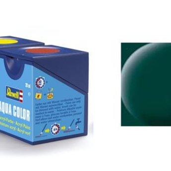 Revell Aqua Color : 040, Zwartgroen (mat)