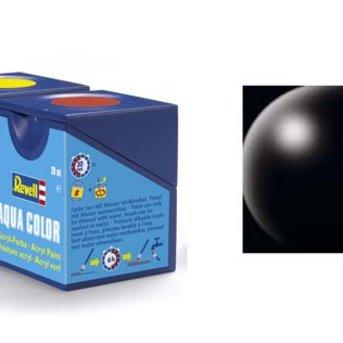 Revell Aqua Color : 302, Zwart (zijdemat)