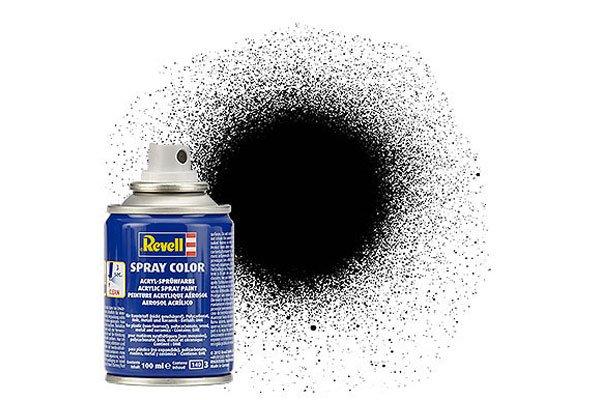 Revell Spray Color: 302 Black (satin)