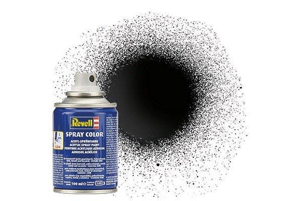 Revell Spray Color : 007 Zwart (glanzend)