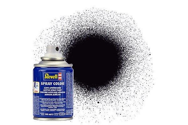 Revell Spray Farbe: 008 Schwarz (matt)