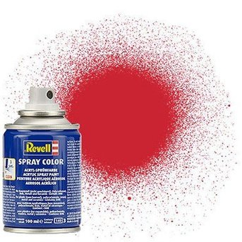 Revell Spray Color: 330 Fire red (satin)