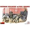 German Soldier w / Fuel Drums