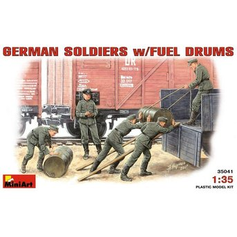 German Soldier w / Fuel Drums