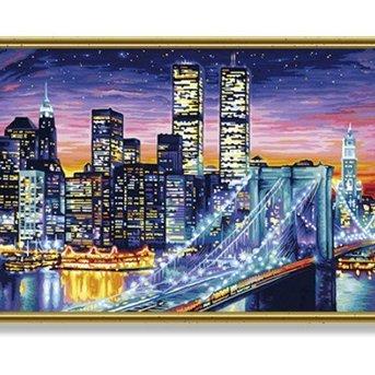 Schipper Manhattan bij Nacht