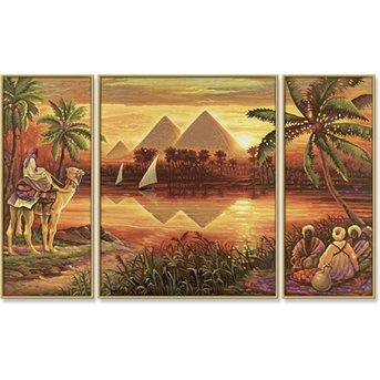 Schipper Piramiden aan de Nijl