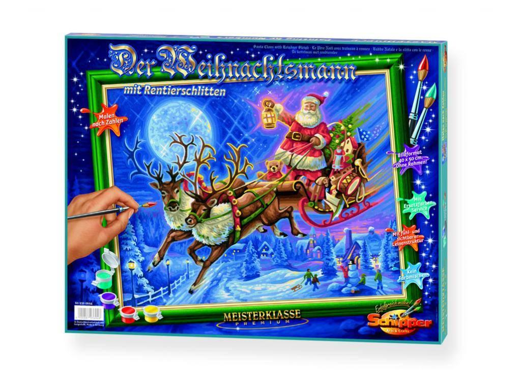 Schipper Weihnachtsmann mit Rentierschlitten