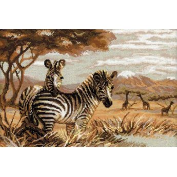Riolis Die Zebras in der Savanne