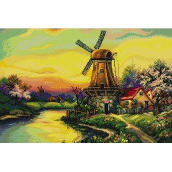 Luca-S Die alte Windmühle an der Dämmerung