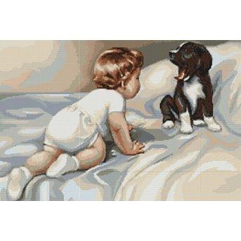 Luca-S Junge mit Hund