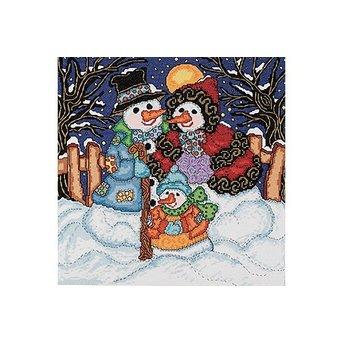 Schnee-Familien-