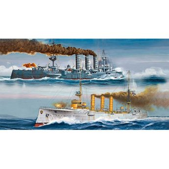 Revell German WWI Light Cruisers: SMS Dresden & SMS Emden