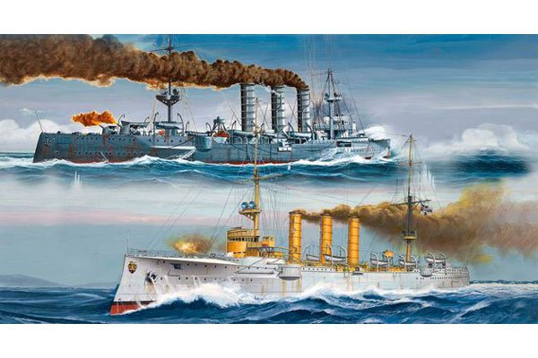 Revell German WWI Light Cruisers : SMS Dresden & SMS Emden