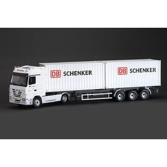 "Italeri Mercedes-Benz Actros with 2 x 20 ""Container Trailer DB Schenker"