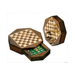 Philos Chess - Chess Travel Mini-Cassette - Octagon